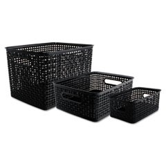 Weave Bins, 13.63 x 10.75 x 9, Black, 3/Pack