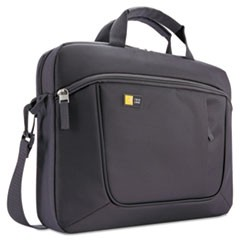 "Laptop and Tablet Slim Case, 15.6"", 16 1/2 x 3 1/5 x 12 4/5, Dark Gray"