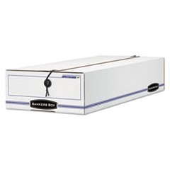 "LIBERTY Check and Form Boxes, 9.25"" x 23.75"" x 4.25"", White/Blue, 12/Carton"