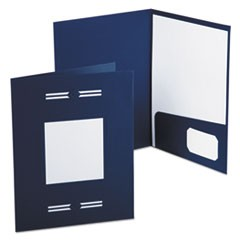 Imperial Series Laserview Business Portfolio, Premium Paper, Blue, 10/Pack