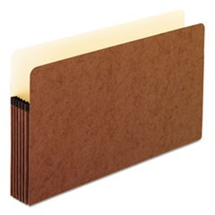 Standard Expanding File Pockets, Manila, Straight Cut, Legal, Redrope, 10/Box
