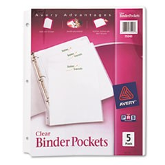 POCKET,BNDR 5PK, CLR