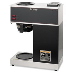 Bunn Vpr Two Burner Pourover Coffee Brewer, Stainless Steel, Black