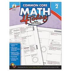 Common Core 4 Today Workbook, Math, Grade 2, 96 pages