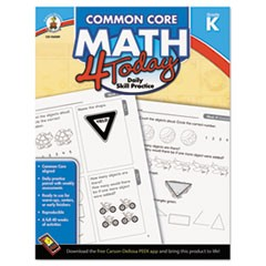 Common Core 4 Today Workbook, Math, Kindergarten, 96 pages