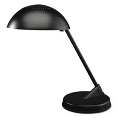 "Incandescent Desk Lamp with Vented Dome Shade, 18"" Reach, Matte Black"