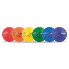 "Rhino Skin Dodge Ball Set, 8"" Diameter, Assorted, 6 Balls/Set"