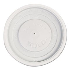 Polystyrene Vented Hot Cup Lids, 4oz Cups, White, 100/Pack, 10 Packs/Carton