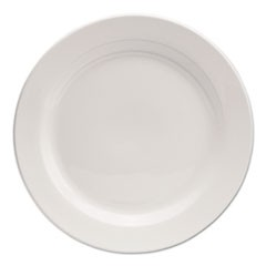 "Chef's Table Porcelain Round Dinnerware, Dinner Plate, 10"" dia, White, 8/Box"