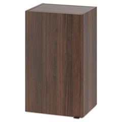 Hospitality Wall Cabinet, One Door, 18w x 14d x 30h, Columbian Walnut
