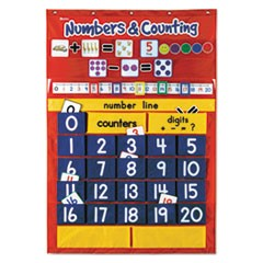 Numbers & Counting Pocket Chart with 194 Cards, 27 Pockets, 28 x 38 1/2