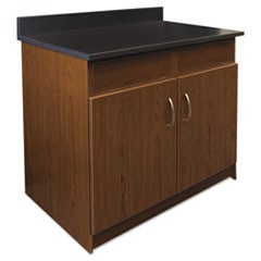Hosp. Base Cabinet, 2 Door/2 Flipper Doors, 36 x 24 3/4 x 40, Cherry/Granite Neb
