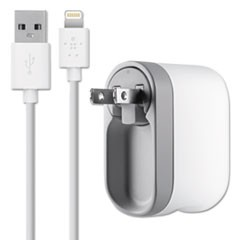 Swivel Charger, 2.1 Amp Port, Detachable Lightning Cable