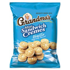 Mini Vanilla Creme Sandwich Cookies, 3.71 oz, 24/Carton