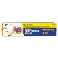 Self-Adhesive Reinforcing Strips, 10 3/4 x 1, 200/BX
