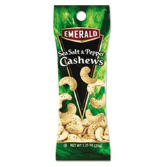 Sea Salt and Pepper Cashews, 1.25 oz. Tube Package, 12/Box