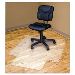 Chair Mats For Hard Floors, 53 x 45, Slightly Tinted