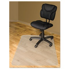 Chair Mats For Hard Floors, 60 x 46, Slightly Tinted