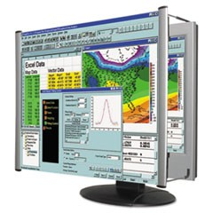 "LCD Monitor Magnifier Filter, Fits 22"" Widescreen LCD, 16:9/16:10 Aspect Ratio"