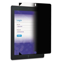 Easy-On Privacy Filter for iPad 2/3rd Gen/4th Gen, Portrait, Black