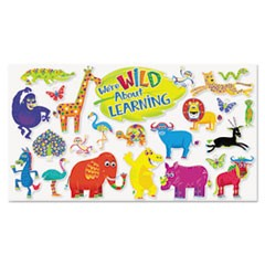 Jingle Jungle Animals Bulletin Board Set, Assorted Shapes and Colors