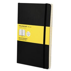Classic Softcover Notebook, Squared, 8 1/4 x 5, Black Cover, 192 Sheets