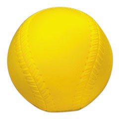Coated Foam Sport Ball, Baseball, Official Size, Yellow