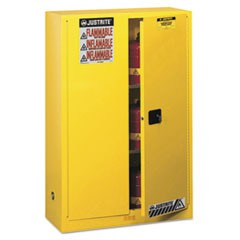 Sure-Grip EX Standard Safety Cabinet, 43w x 18d x 65h, Yellow