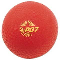 "Playground Ball, 7"" Diameter, Red"