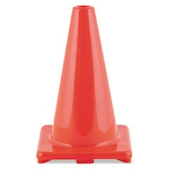 "Hi-Visibility Vinyl Cones, 12"" Tall, Orange"
