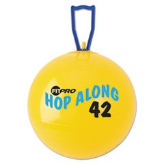 FitPro Hop Along Pon Pon Ball, 42cm, Yellow