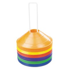 Saucer Field Cones, Set of 8 Assorted Color Cones