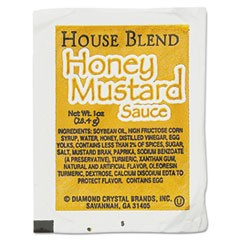 House Blend Rectangular Cup Dipping Sauces, Honey Mustard, 1 oz Cup, 100/Box