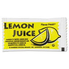 Flavor Fresh Condiment Packets, Lemon Juice, 4 g Packets, 200/Box