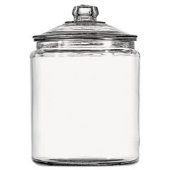 Heritage Hill Glass Jar With Lid, 1 Gallon, Clear, Glass Lid