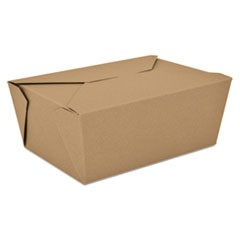 ChampPak Retro Carryout Boxes, 7-3/4 x 5-1/2 x 3-1/2, Brown