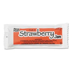 FLAVOR FRESH Jelly, Strawberry, 0.5 oz Poly Pouch, 200 Pouches