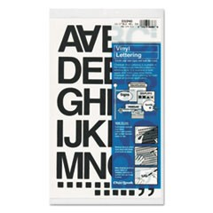 "Press-On Vinyl Letters & Numbers, Self Adhesive, Black, 1 1/2""h, 37/Pack"
