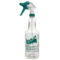 Color-Coded Trigger-Spray Bottle, 32 oz, Green: Neutral Disinfectant Cleaner