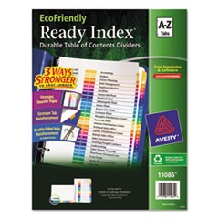 Customizable TOC Ready Index Multicolor Dividers, 26-Tab, Letter