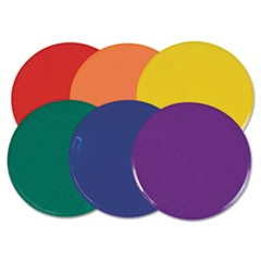 "Poly Spot Marker Set, 9"" Disks, Assorted Colors, 6/Set"