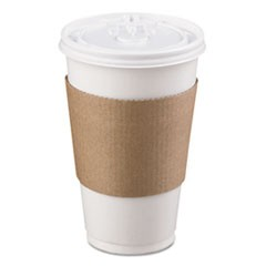 Coffee Clutch Hot Cup Sleeve, Brown, 1200/Carton