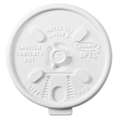 Lift n' Lock Plastic Hot Cup Lids, 6-10oz Cups, White, 1000/Carton