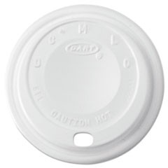 Cappuccino Dome Sipper Lids, 8-10oz Cups, White, 1000/Carton