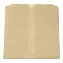 "Waxed Napkin Receptacle Liners, 8.5"" x 8"", Brown, 500/Carton"