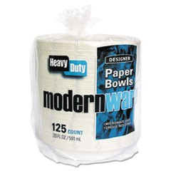 Modernware Roman Holiday Dinnerware, Bowl, 20oz, White, 125/Pack, 2 Packs/Carton