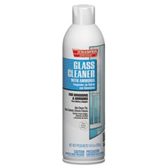 Champion Sprayon Glass Cleaner with Ammonia, 19oz, Aerosol, 12/Carton