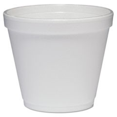 Food Containers, Foam, 8oz, White, 1000/Carton
