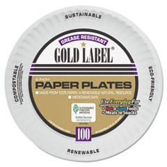 Ajm Packaging Corporationcoated Paper Plates, 6 Inches, White, Round, 100/Pack