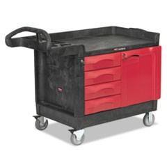 TradeMaster Cart, 750-lb Cap, One-Shelf, 26-1/4w x 49d x 38h, Black
